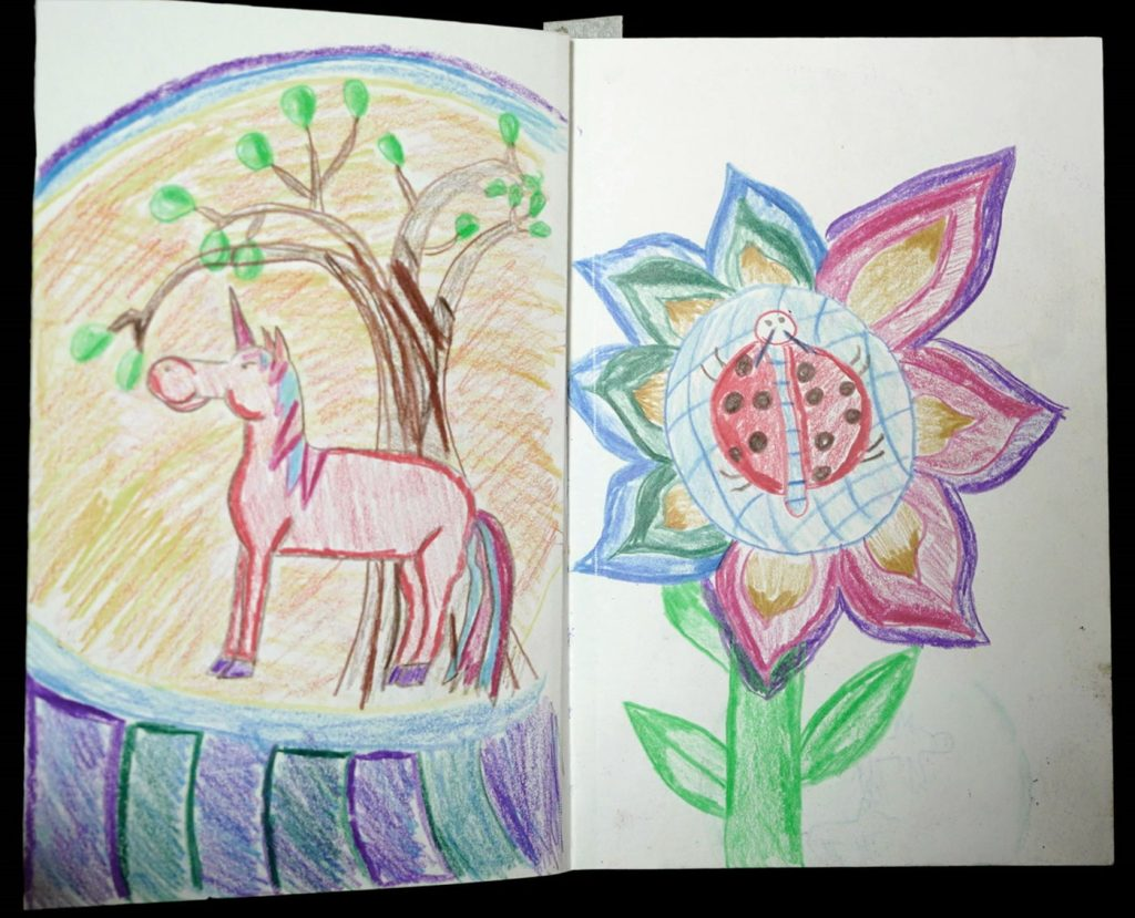 artworks: The Unicorn and Ladybird in a Flower